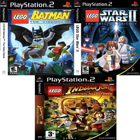 Jogos Patch Ps2 Lego Collection Batman Indiana Jones Starwar