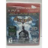 Juego Ps3 Original Batman Arkham Asylum, Nuevo Sellado