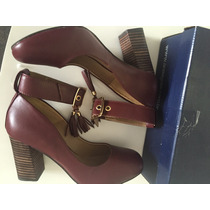 Sapato Couro Legítimo Social Tornozeleira Feminino N36