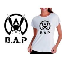Camisetas Baby Look Feminina Personalizada Kpop Grupo Bap