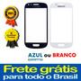 Tela De Vidro Galaxy S3 Mini Gt I8200l I8190l Sem Touch