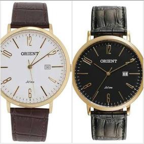 Relógio Orient Masculino Clássico Pulseira De Couro Mgsc1006