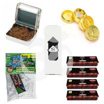 Pack Liar Tabaco Roladora+grinder+4xpapel+encendedor+filtros