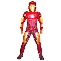 Disfraz De Iron Man Talla 4 Incluye Mono Y Mascara