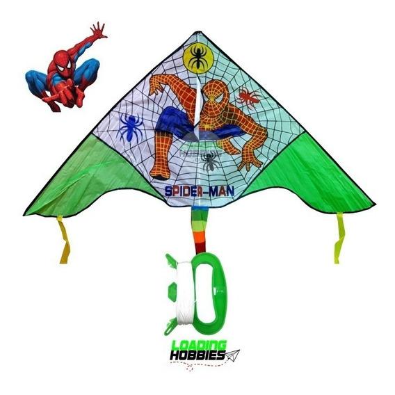 Barrilete Cometa Spiderman Hombre Ara?a Grande Tela Infantil