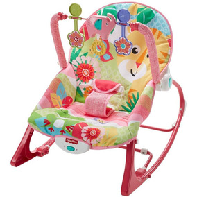 Cadeira De Descanso Musical Vibratória Rosa Fisher Price