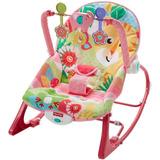 Cadeira De Descanso Musical Vibratória Rosa Fisher Price