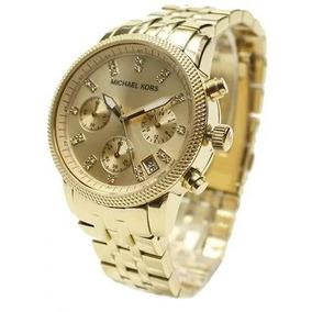 ef7b4270cec Relógio Qpx5449 Michael Kors Mk5676 Dourado Cristais Saldão
