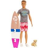 Ken Surfista Do Filme Barbie Mergulho Com Bichinhos