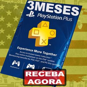 Cartão Psn Card Playstation Plus 3 Meses Americana Usa