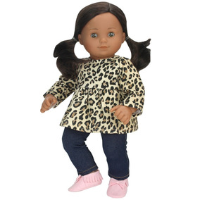 15 Inch Doll Clothing Cheetah Print Tunic & Leggings Fits 15
