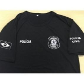 Camiseta Preta Policia Civil Nacional