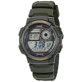 Reloj Casio Ae1000 W-3av Verde Hombre