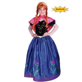 Disfraz De Princesa Elsa Ana Hanna Frozen Carnavalito Disney