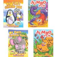 Libro Jumbo Preescolar Colorear / Iluminar Infantil Niños