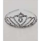 Tiara Noiva Coroa Debutante Stress Baile Princesa Prata