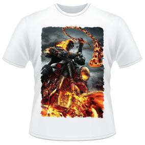 Camiseta Motoqueiro Fantasma Ghost Rider Filme Moto Camisa
