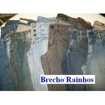 Lote 10 Calças Jeans Feminina Sortida Semi Novas Para Brecho