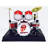 Miniatura Bateria 8 Peças Rolling Stones Acrílico 1:12