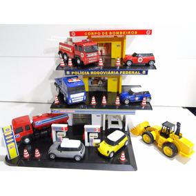 Trator E Kit Miniatura Posto Policia Bombeiro Combustivel