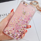Capa Iphone 7 Plus 8 Plus Glitter Liquido Choque Impacto