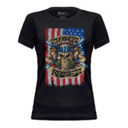 Baby Look Guns N' Roses Pistols Skull Flag