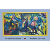 Obra De Arte Quadro Pintura A Mão - Homenagem A Kandinsky