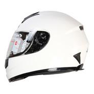 Casco Para Moto Gdr Ff-858 Solid Blanco Certificado