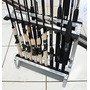 Expositor De Varas De Chão Alumínio + Suporte D Gsol Lateral