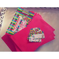 30 Convite Infantil 10x15 Circo Patati Patatá C/ Envelope
