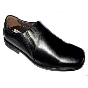 Sapato Masculino Social Pegada 22101 Couro Liso Tradicional
