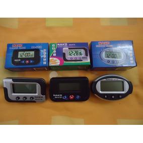 5 Relógio Digital Mini Carro Cronometro Despertador Painel