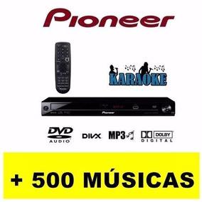 Karaoke Dvd Pioneer Usb Com Microfone E 500 Músicas