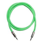 Cable Mini Plug  Miniplug Estereo Verde Fluo 2 Mts Hamc
