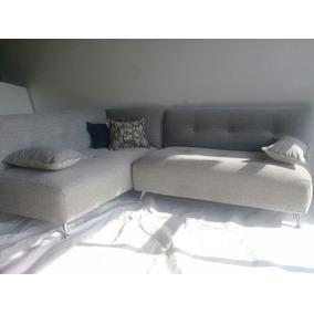 Sillon Sofa Esquinero Stylo Americano En Tela Chenille