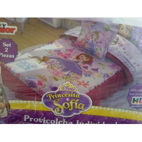 Colcha Princesa Sofìa Individual Y Cojin Disney Providencia