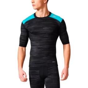 Camiseta Térmica Compressão Adidas Techfit Preparation Camisetas ... c08554a4eee84