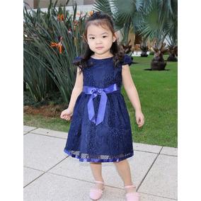 Vestido Infantil De Festa/casual Renda Criança Db161