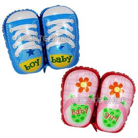 Globos Baby Shower Zapatos Niño Niña Bebe Fiesta Metalicos