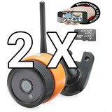 Kit 2 Câmeras Wi-fi, Visão Noturna, A Melhor Do Mercadolivre