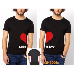 Par Playeras Pareja Amor Gay Amor(personalizadas) Corazon