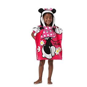 Disney Minnie Mouse 22 \x 22\ Toalla Con Capucha Del Poncho