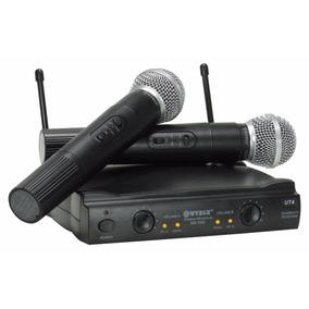 2 Microfone Sem Fio Digital Profissional Receptor Uhf Sm58