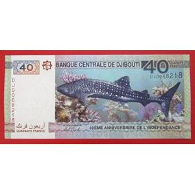 Djibouti Billete 40 Francos Unc 2017 Pick New