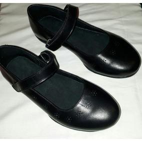 Zapatos Colegiales/ Escolares Guillerminas.cuero Negros N*34