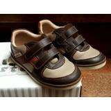 Zapato Zapatilla Niño Talla 26 Cuero Elegante Semi Nuevos