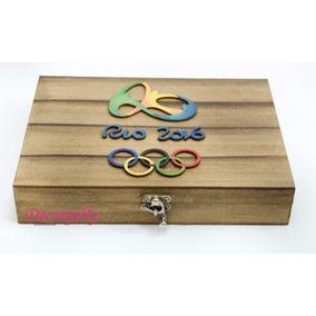 01 Album Olimpiadas Em Madeira Em Mdf Pintado A Mão