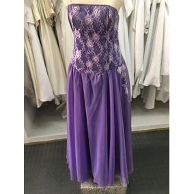 Vestido De 15 Años Color Lila, Encaje Y Gasa Diseño