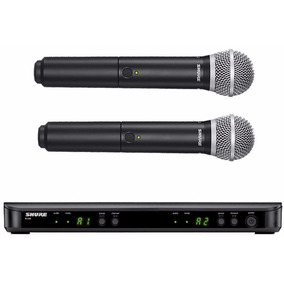 Microfone Duplo Sem Fio Shure Blx288/pg58 - Pg288