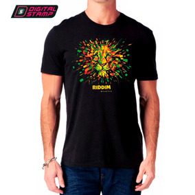 Remeras Estampadas Riddim Reggae 1 Fluya Dtg Digital Stamp